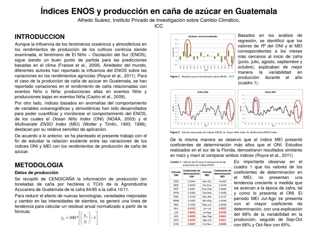 thumbnail of Indices ENOS y produccion en caña de azucar en Guatemala