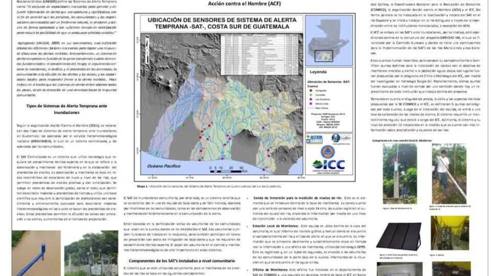 Sistema de Alerta Temprana SAT para inundaciones