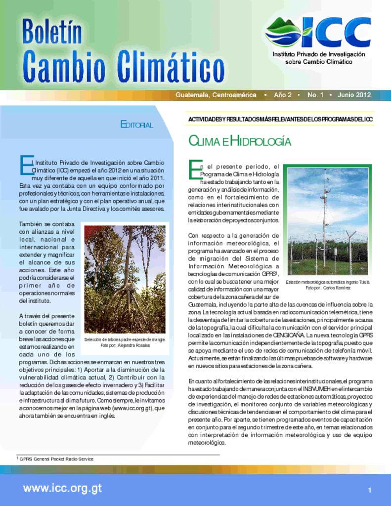 thumbnail of boletin cambio climatico 1 2012