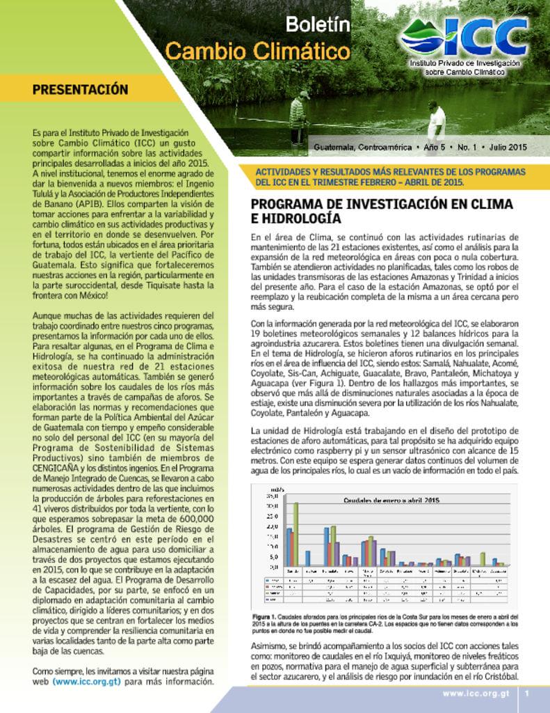 thumbnail of boletin cambio climatico 1 2015