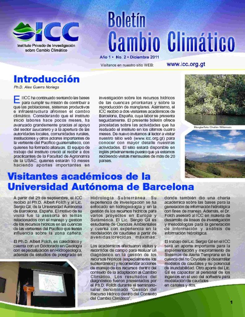 thumbnail of boletin cambio climatico 2 2011