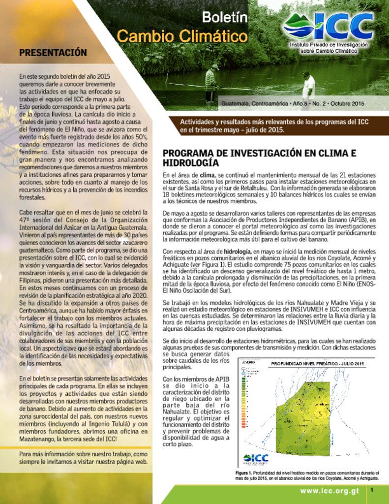 thumbnail of boletin cambio climatico 2 2015