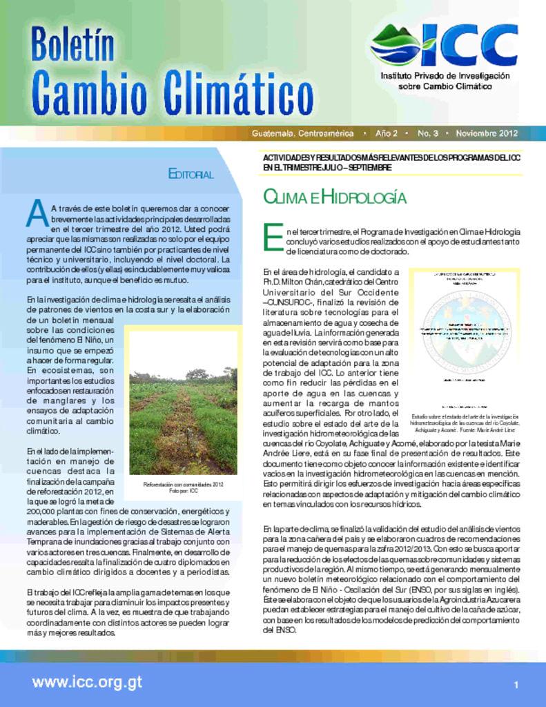 thumbnail of boletin cambio climatico 3 2012