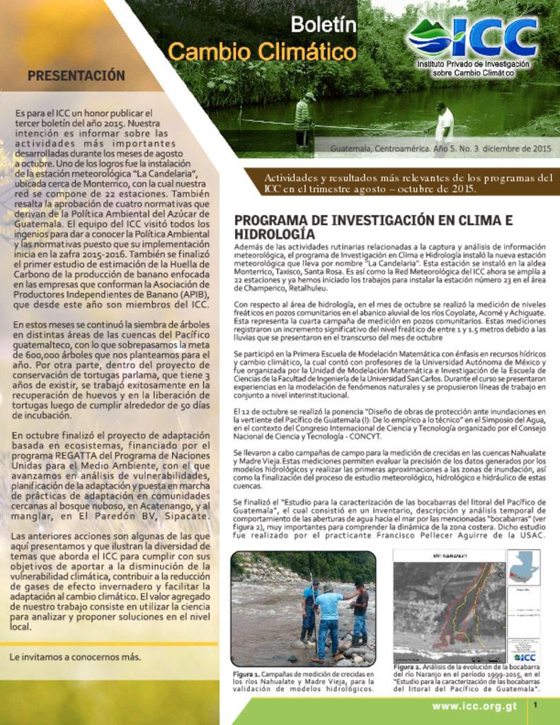 thumbnail of boletin cambio climatico 3 2015
