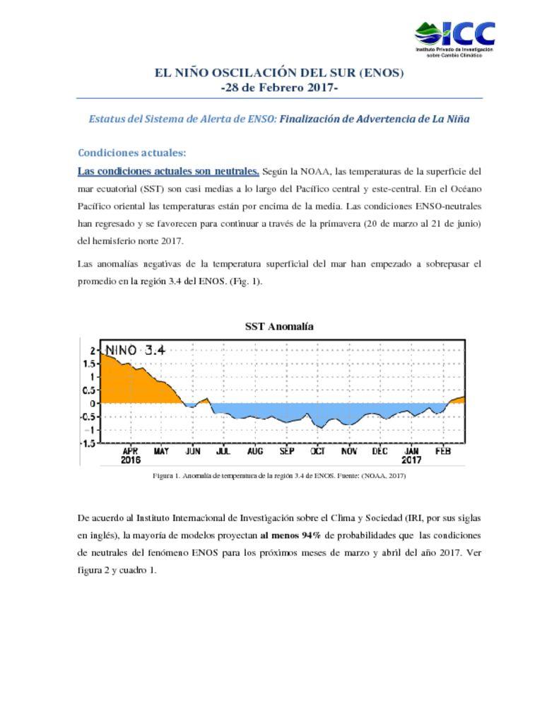 thumbnail of Boletín-El-Niño-ENOS-Febrero-2017