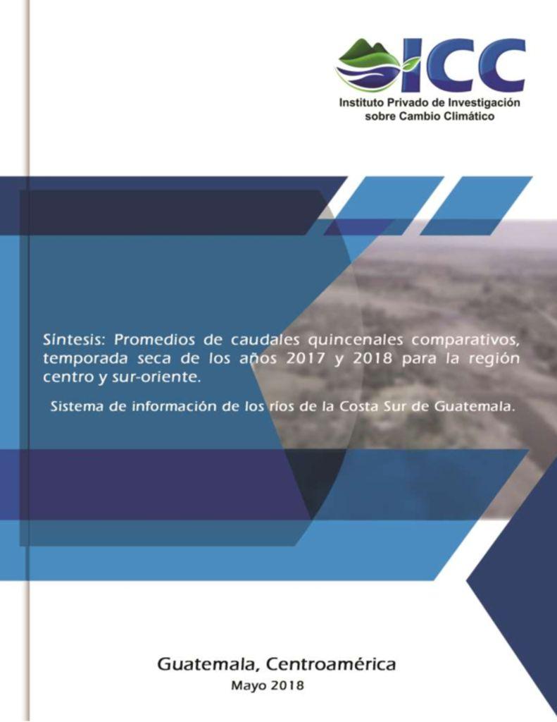 thumbnail of Region-Oriente-St-Rosa-Síntesis-caudales-quincenales-ríos-Costa-Sur-2017-y-2018