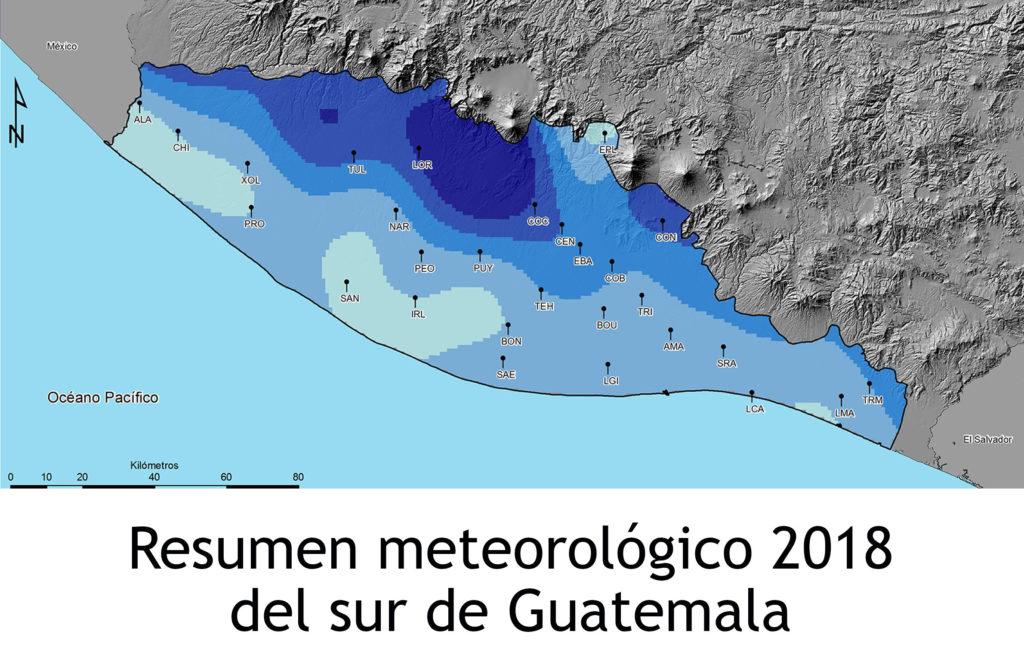 Portada de Resumen Meteorologíco 2018 del sur de Guatemala